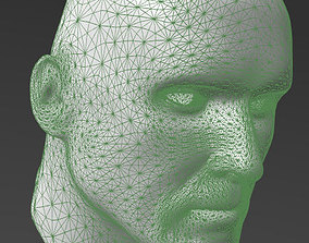 3D printable model Solid male head 1