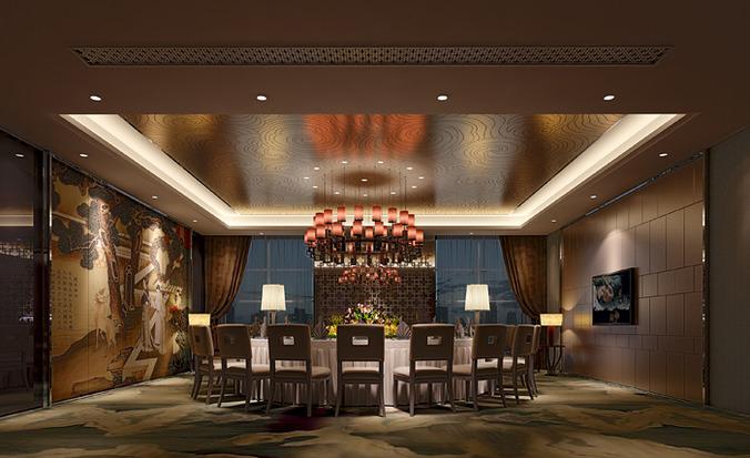 Exquisite restaurant with posh ceiling decor d model max