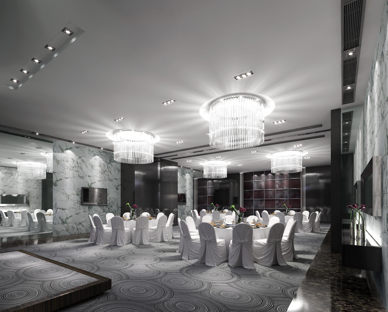 restaurant with posh carpet 3d model max