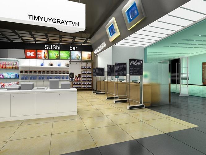 D model posh restaurant interior cgtrader