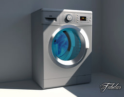 3D asset Washing machine 03