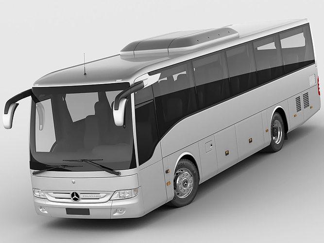 mercedes tourismo k 3d model max obj mtl 3ds fbx c4d lwo lw lws 1