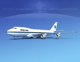 Boeing 747-100 Pan Am 1 3D rigged