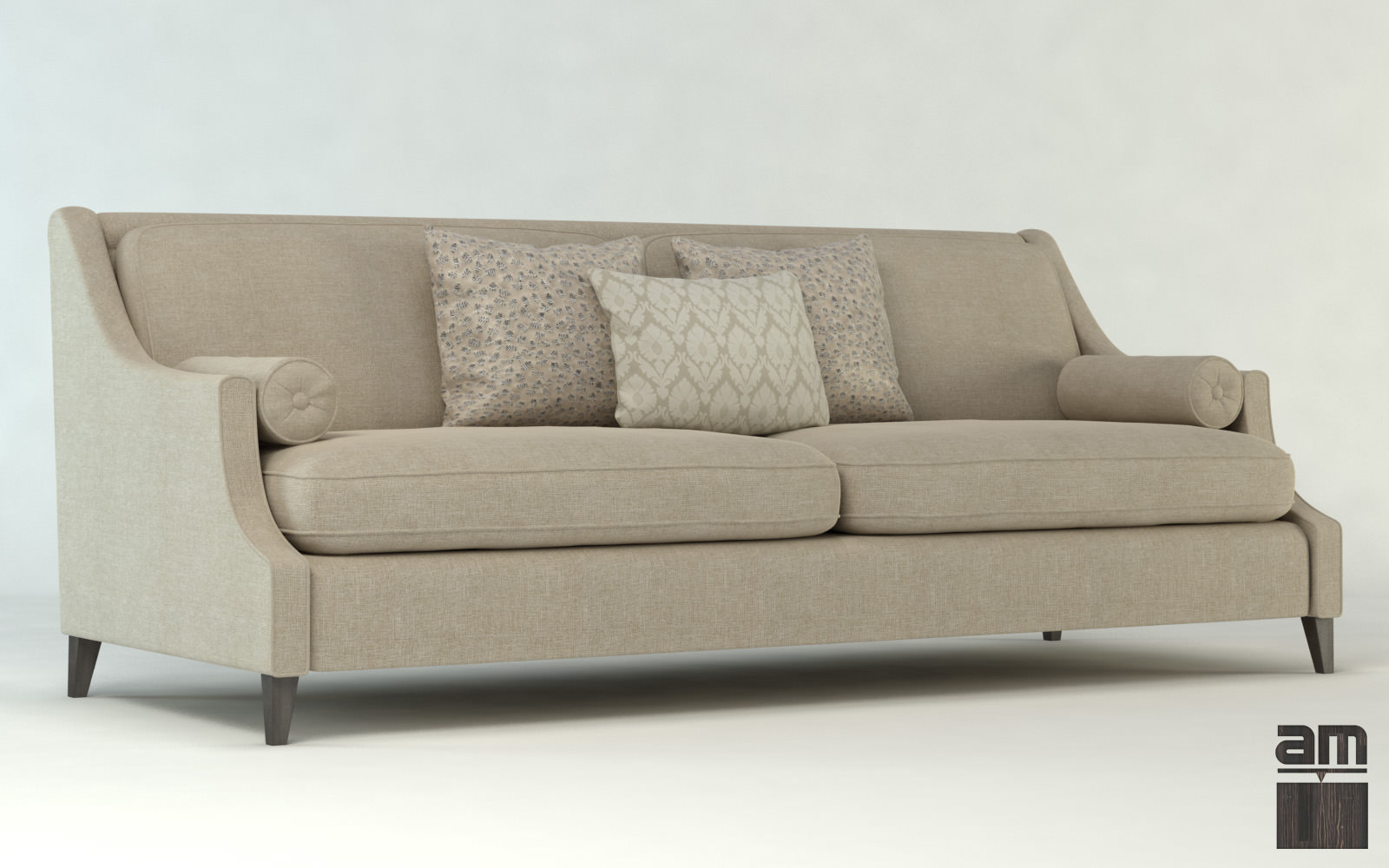 Modern sofa dubai 3d model max obj fbx for Sofa 3d model