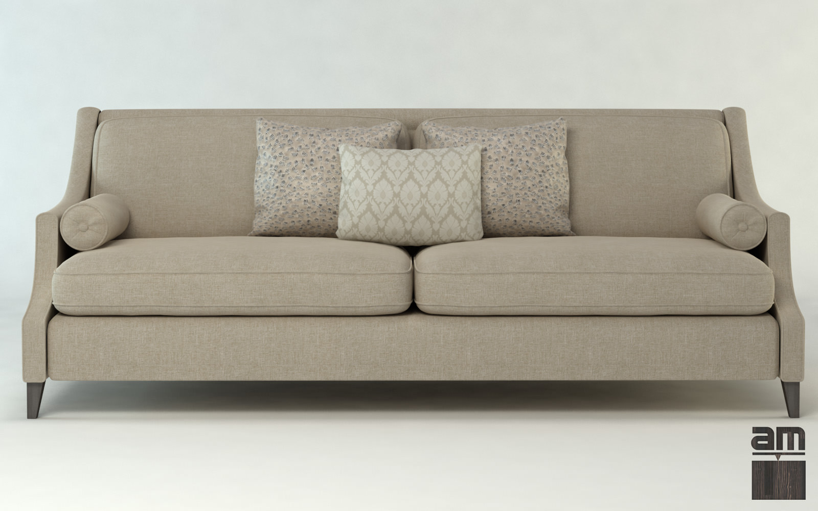 Modern sofa dubai 3d model max obj fbx cgtradercom for Sectional sofas dubai
