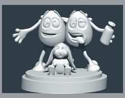 Eggtoon Happy Easter 3D print model