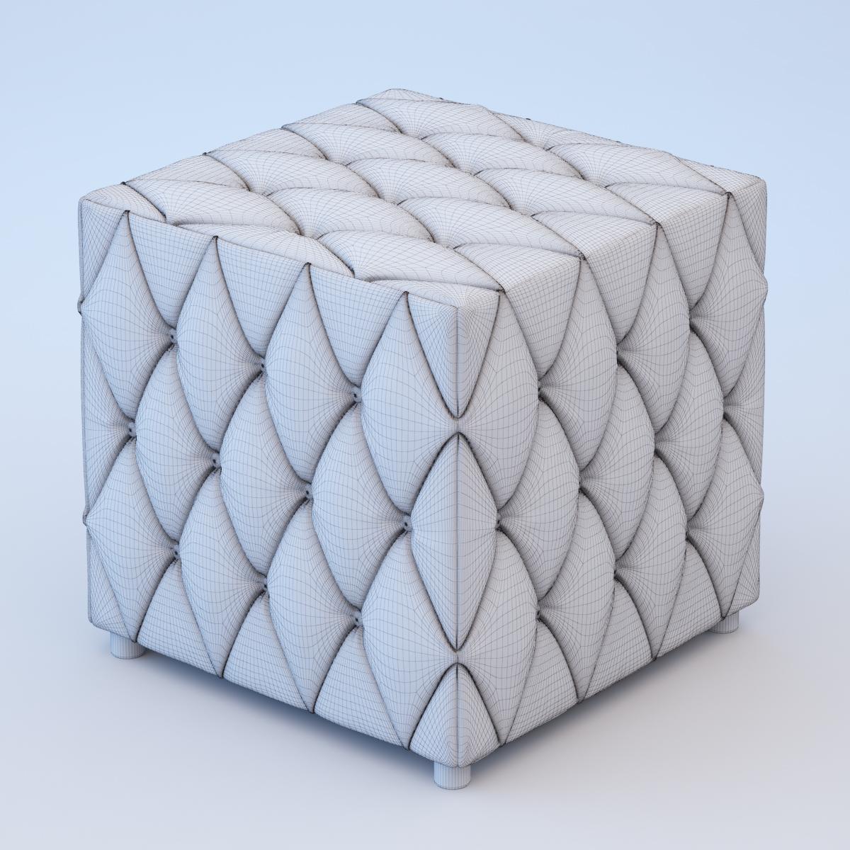 3D Velvet pouf | CGTrader