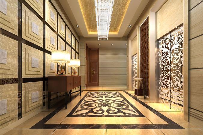 Elevator with Aristocratic Door Design3D model