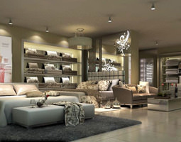 Store for Pillows and Beds 3D