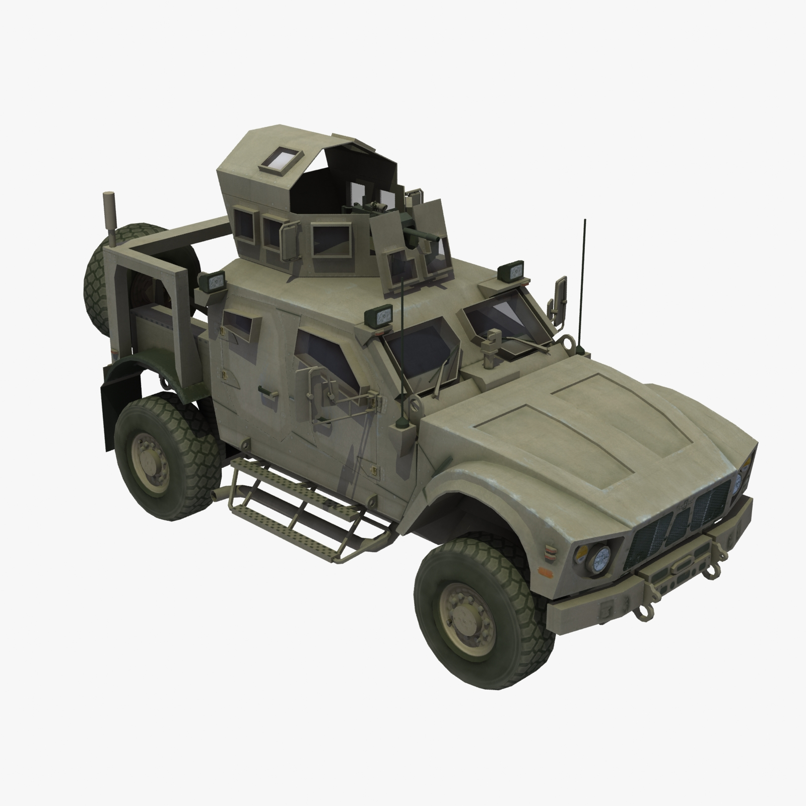 MATV MRAP Truck 3D Model Max Obj 3ds Lwo Lw Lws Hrc