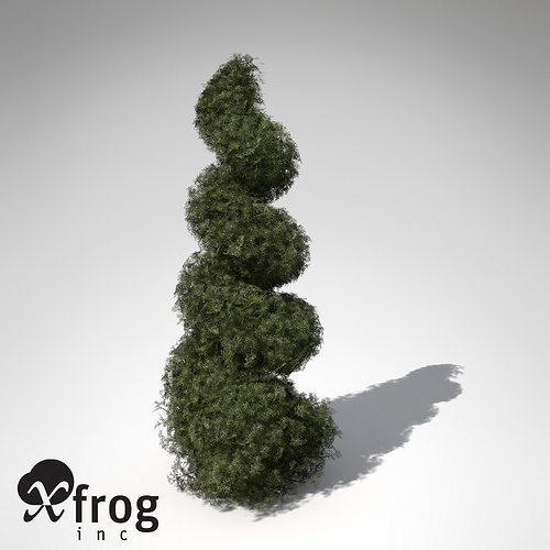xfrogplants false cypress bushes 3d model max 3ds c4d lwo lw lws ma mb mtl 1
