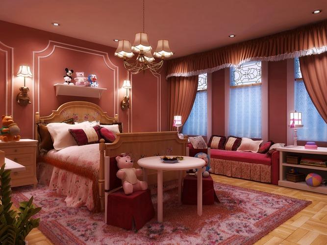 Posh Children Bedroom3D model