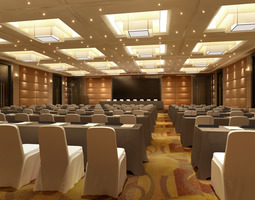 3D Spacious Stylish Meeting Room