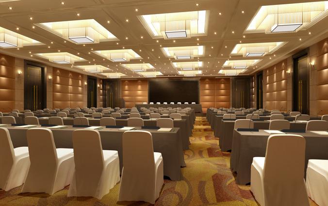 Spacious Stylish Meeting Room 3D Model MAX