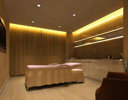 SPA Room with Stylish Lighting 3D