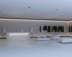 Store with Aristocratic Interior 3D model