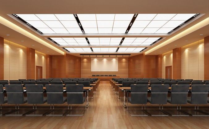 3d Model Auditorium Room With Luxury Interior Cgtrader