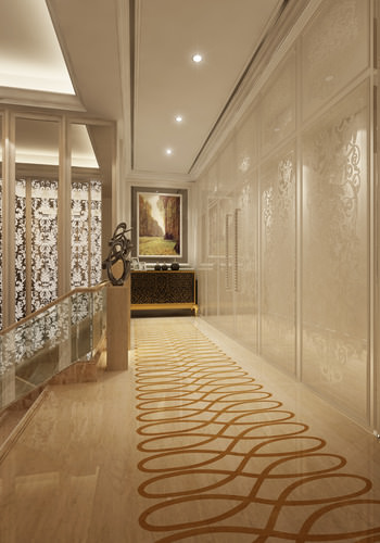 Corridor With Partition Decor And Wall Decor 3d Model Max