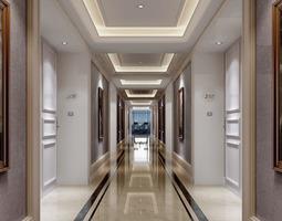 Corridor with Exotic Designer Strike 3D model