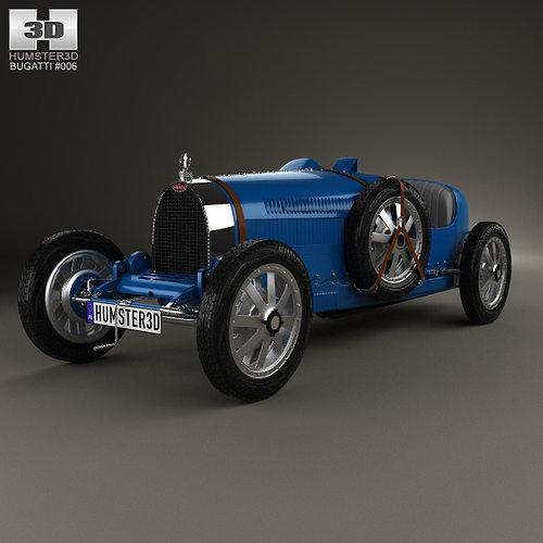 bugatti type 35 1924 3d model max obj 3ds fbx c4d lwo lw lws 1