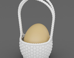 Single Egg Basket 3D Model