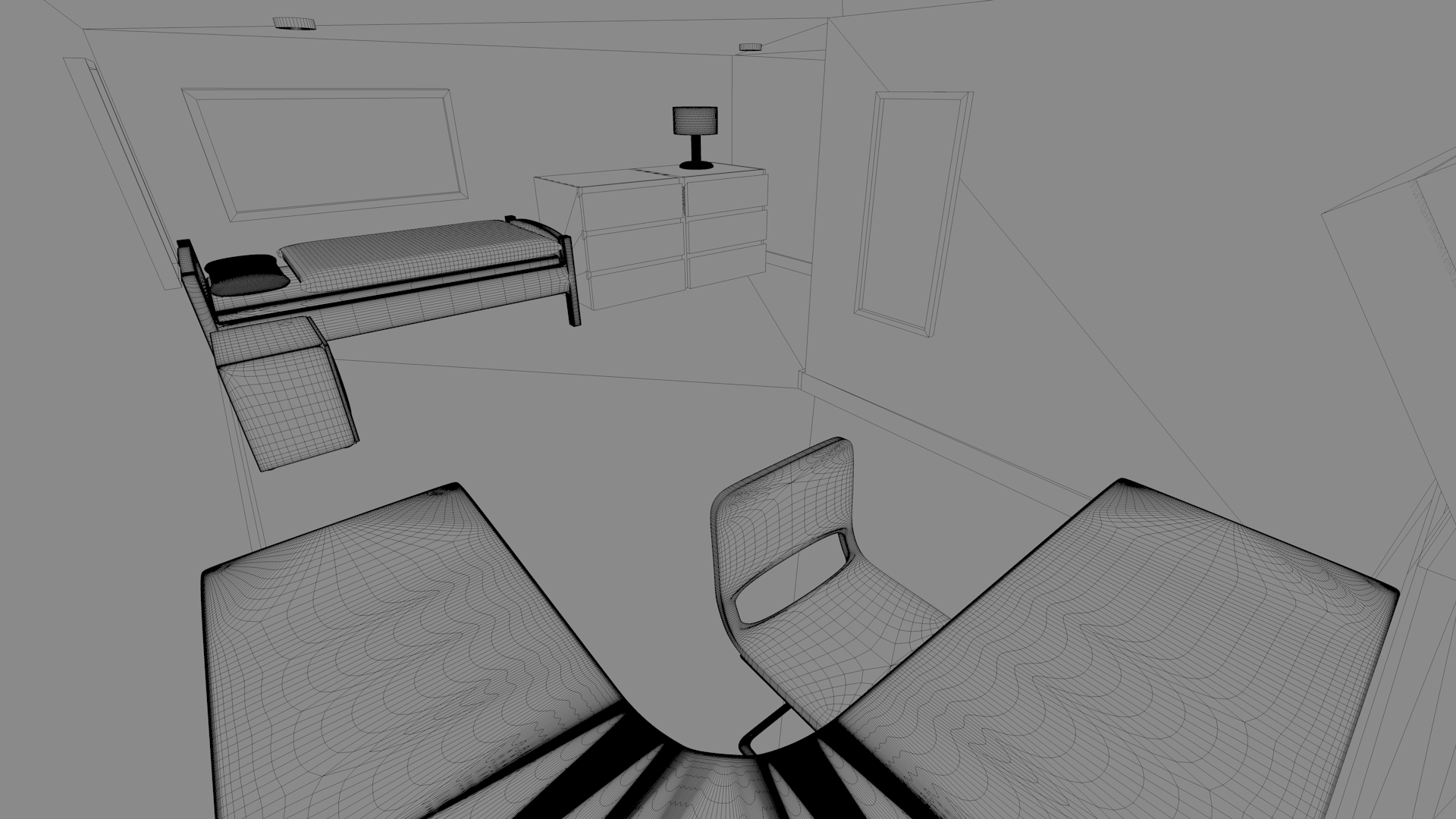 Room design 3d model obj 3ds c4d dae for Unity 3d room design