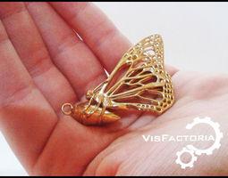 3d printable model monarch butterfly pendant