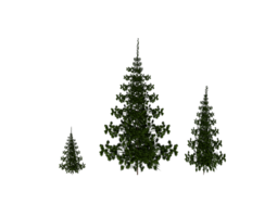 game-ready 3d asset low poly trees