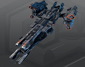 3D asset SF IMPERIAL Frigate K6