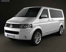 3d volkswagen transporter t5 caravelle multivan 2011