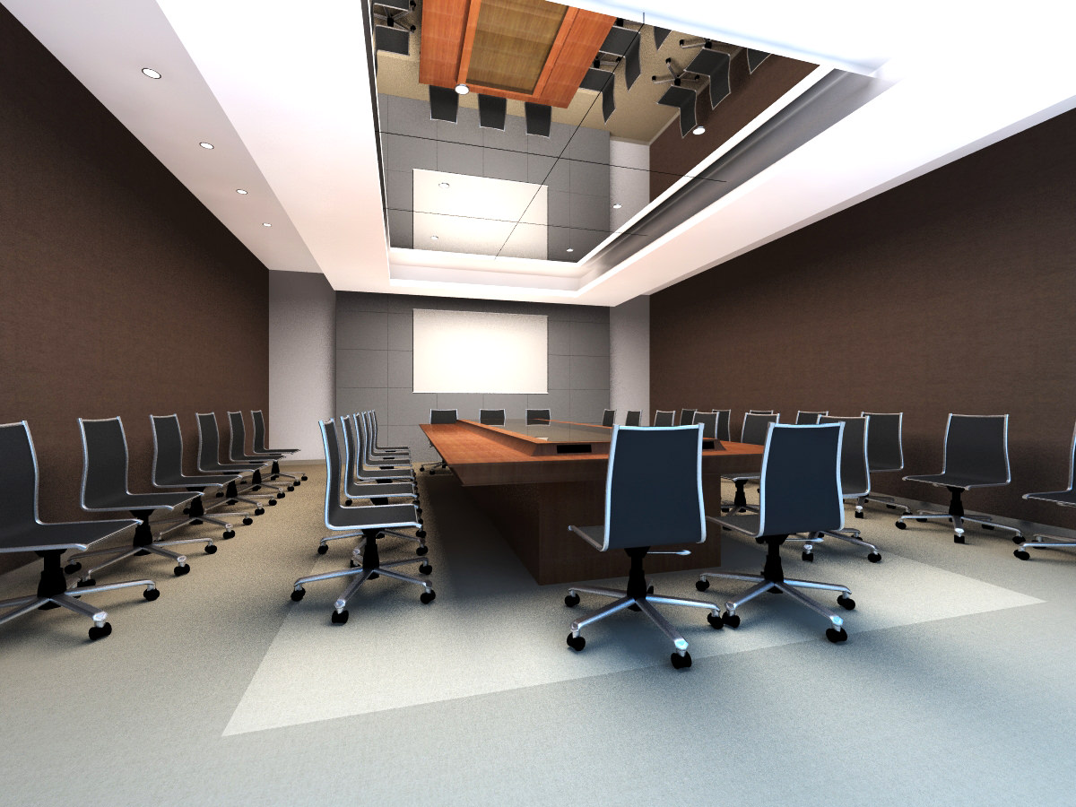 Conference Room With Mirror Ceiling