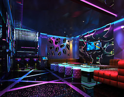 3d exquisite ktv lounge with interior decor