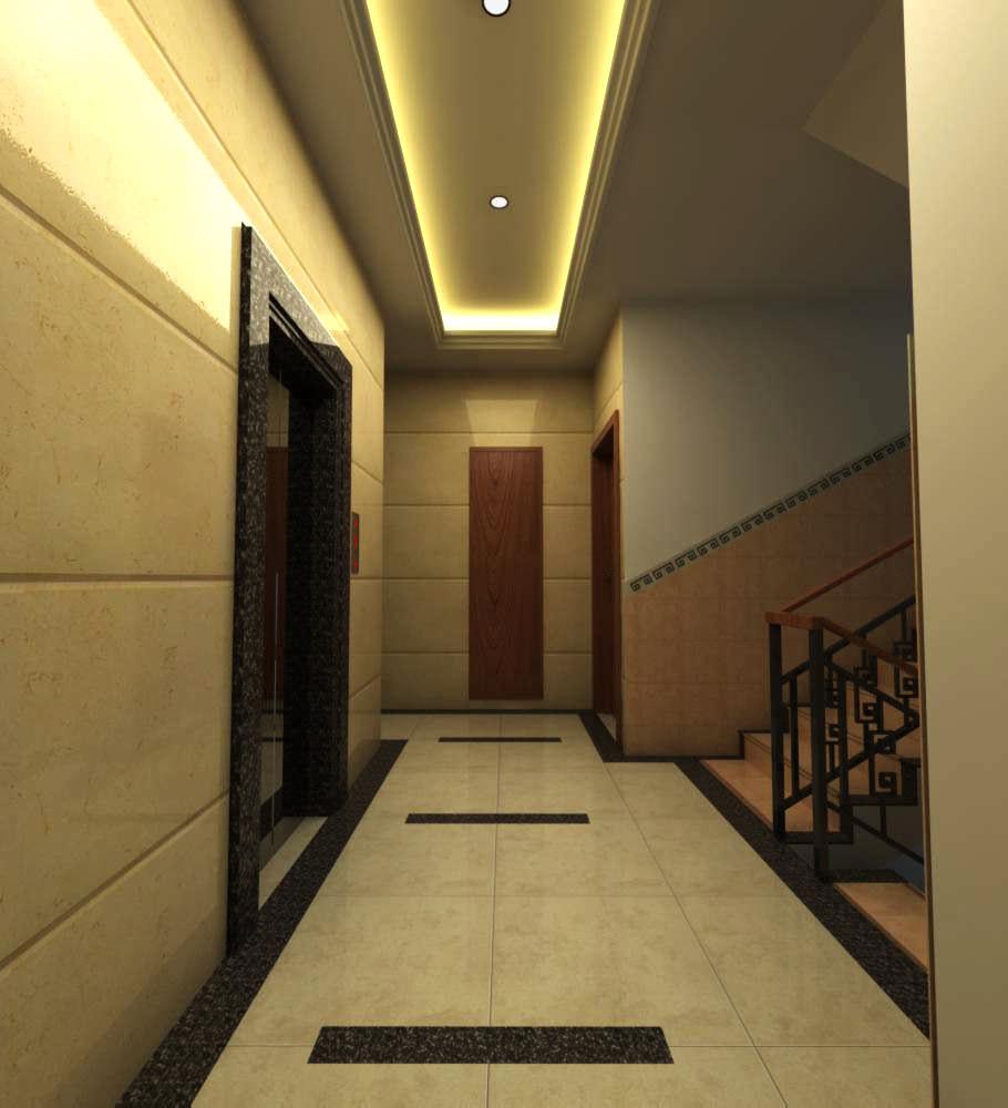 Corridor With Elegant Lighting 3d Model Max
