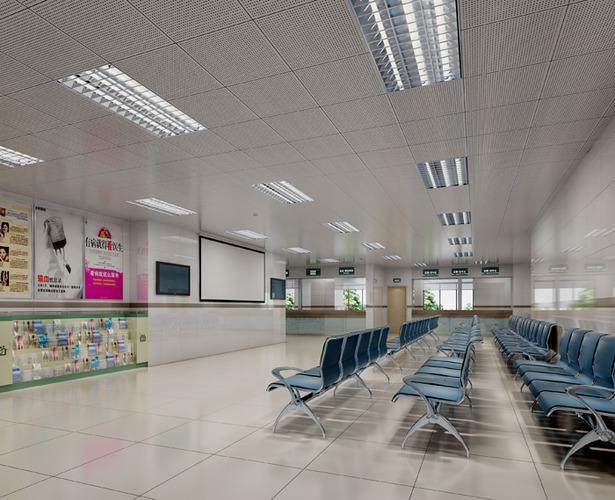 Hospital Lobby With Vogue Interior 3d Model Max Cgtrader Com