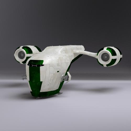 space gunship 3d model obj 3ds lwo lw lws blend mtl 1