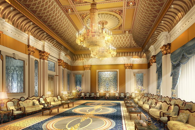 Luxury Antechamber with Chandelier3D model