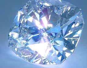 3D Diamond Cushion Cut