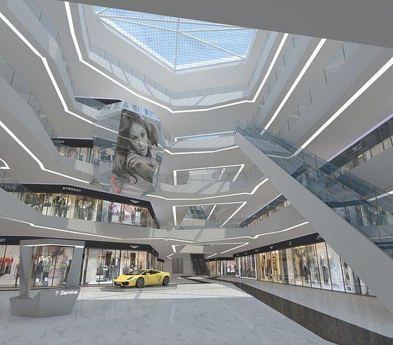 business center interior 3d model max 1