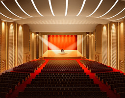 theater with high-end lighting 3d model max
