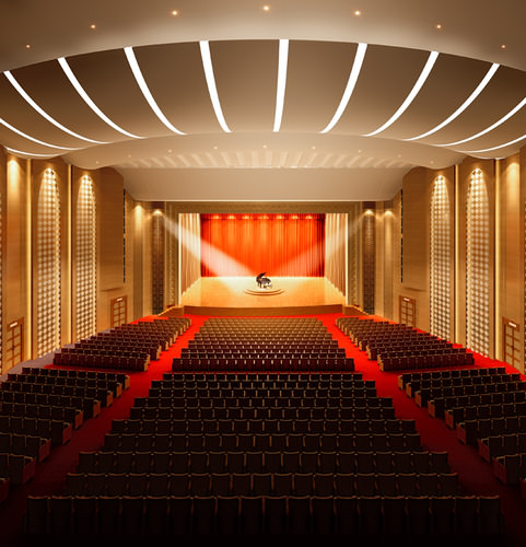 theater with high-end lighting 3d model max 1