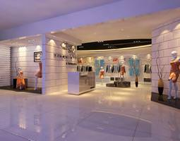 3d classy clothing store