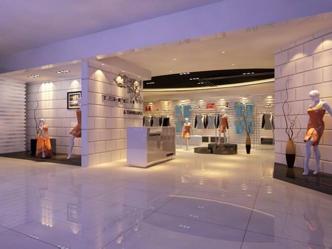 classy clothing store 3d model max dwg 1