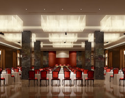 3D model Spacious Classy Conference Room