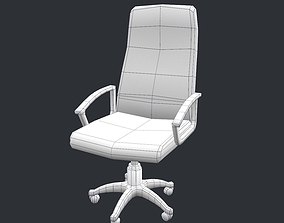 Free Office Chair Low poly model VR / AR ready