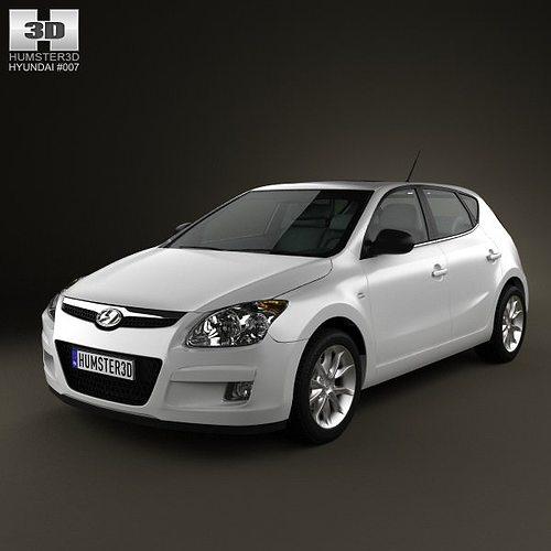 hyundai i30 2010 3d model max obj mtl 3ds fbx c4d lwo lw lws 1