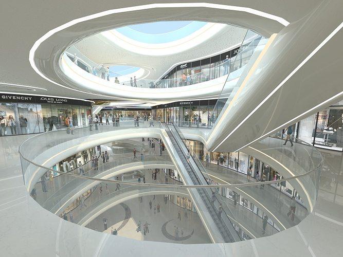 exquisite shopping mall interior 3d model max obj fbx mtl tga 1