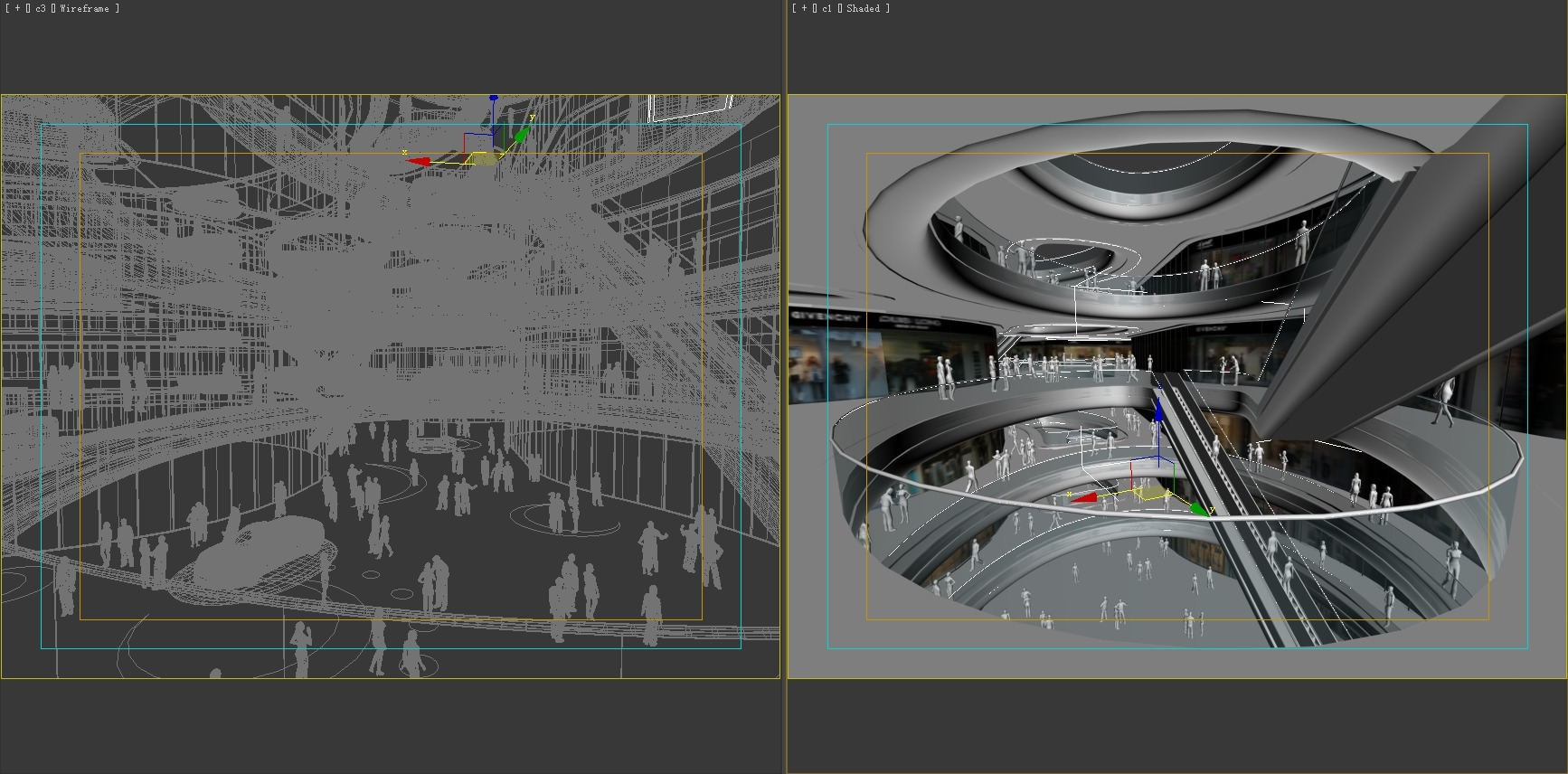 Exquisite Shopping Mall Interior 3D Model .max - CGTrader.com