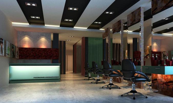 Modern Salon Room3D model