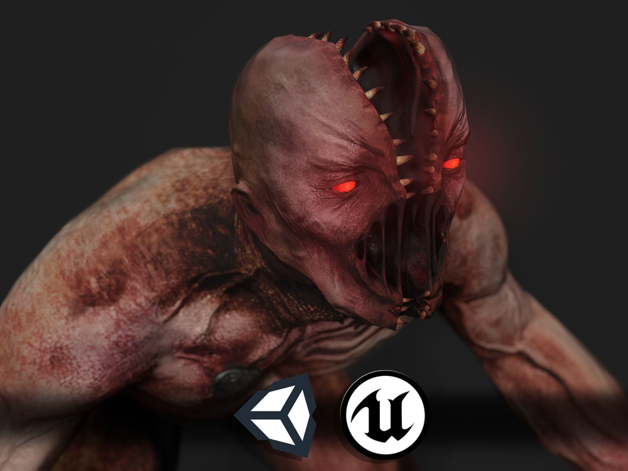 Creepy Horror Monster 2 - PBR and Animated