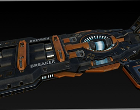 Breaker Cannon 3D asset